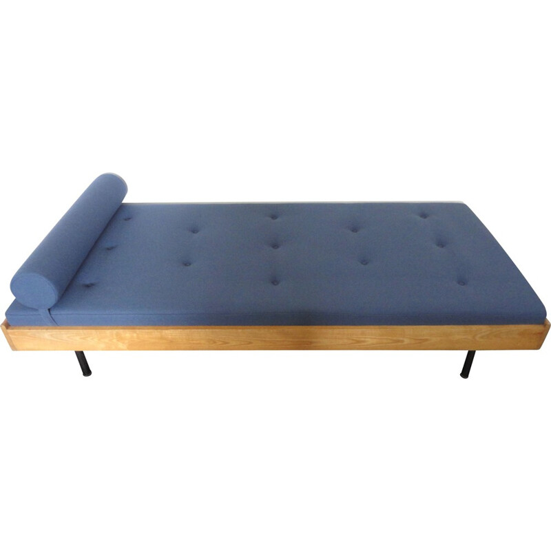 French daybed in ashwood and kvadrat fabric - 1950s