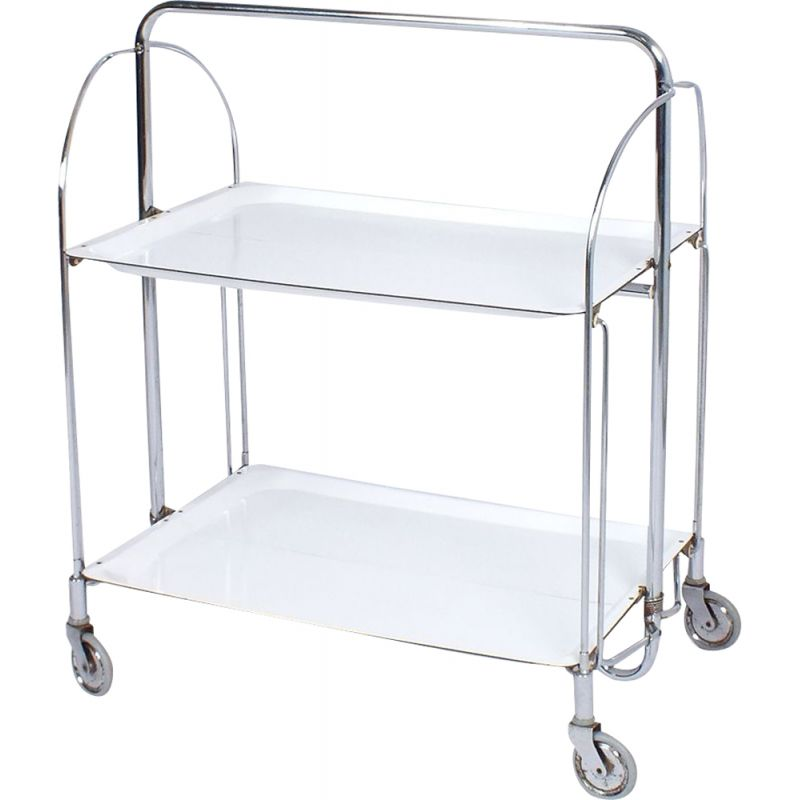 Vintage foldable serving trolley by Gerlinol from Bremshey & Co