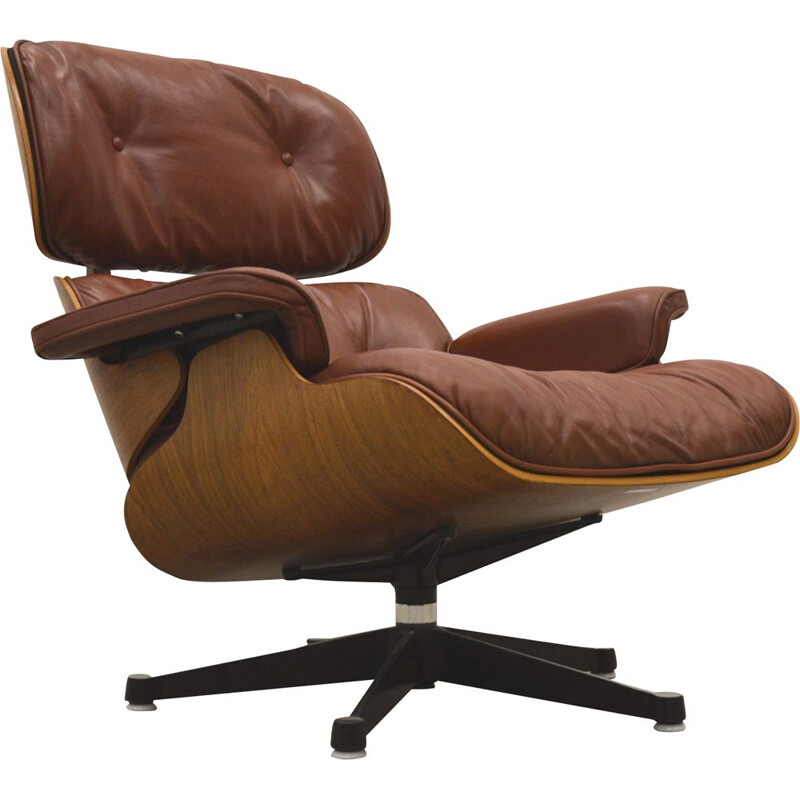 Vintage rosewood armchair by Charles Eames for Herman Miller, 1970s