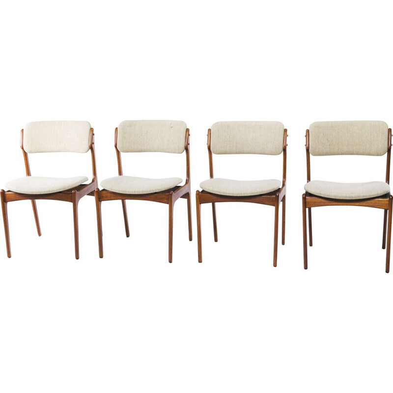 Set of 4 vintage dining chairs by Erik Buch for OD Møbler, 1970s