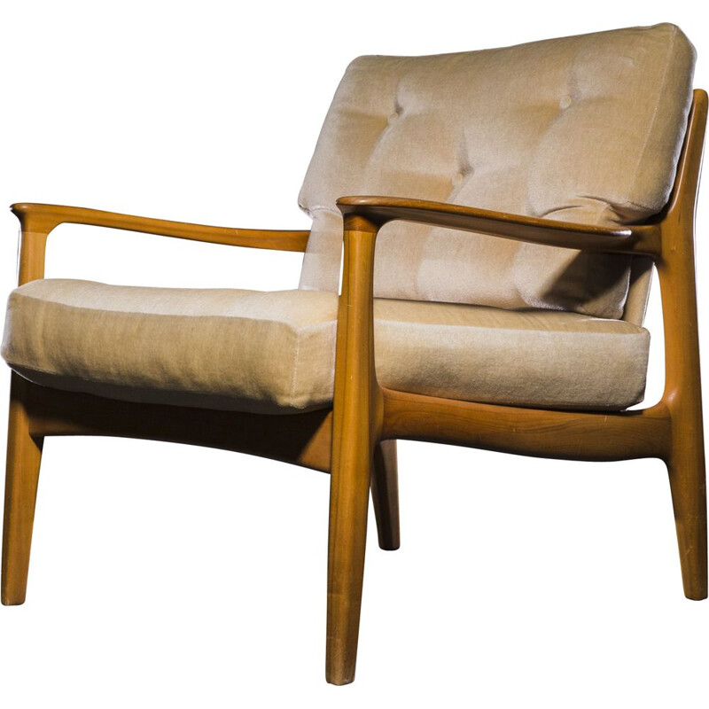 "Vintage ""Easy Chair"" in cherrywood by Eugen Schmidt for Soloform, 1960s"