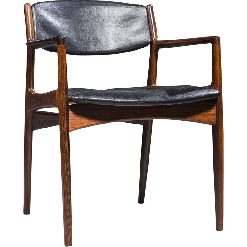 Vintage rosewood armchair by Arne Vodder for Sibast, 1960s