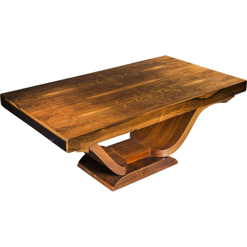 Vintage art deco rosewood dining table, 1930s