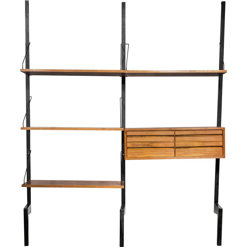 "Vintage ""Royal System wall unit with drawers by Poul Cadovius for Cado, 1960s"