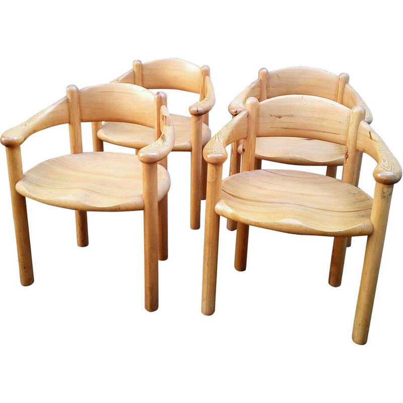 Set of 4 vintage setarmchairs by Rainer Daumiller for Hirtshals Sawmill