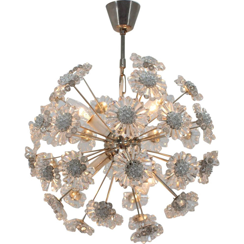 Vintage chandelier by Dandelion from Preciosa, 1970s
