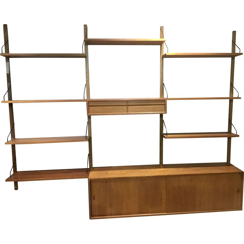 Vintage wall unit by Poul Cadovius for Cado, Denmark, 1960s