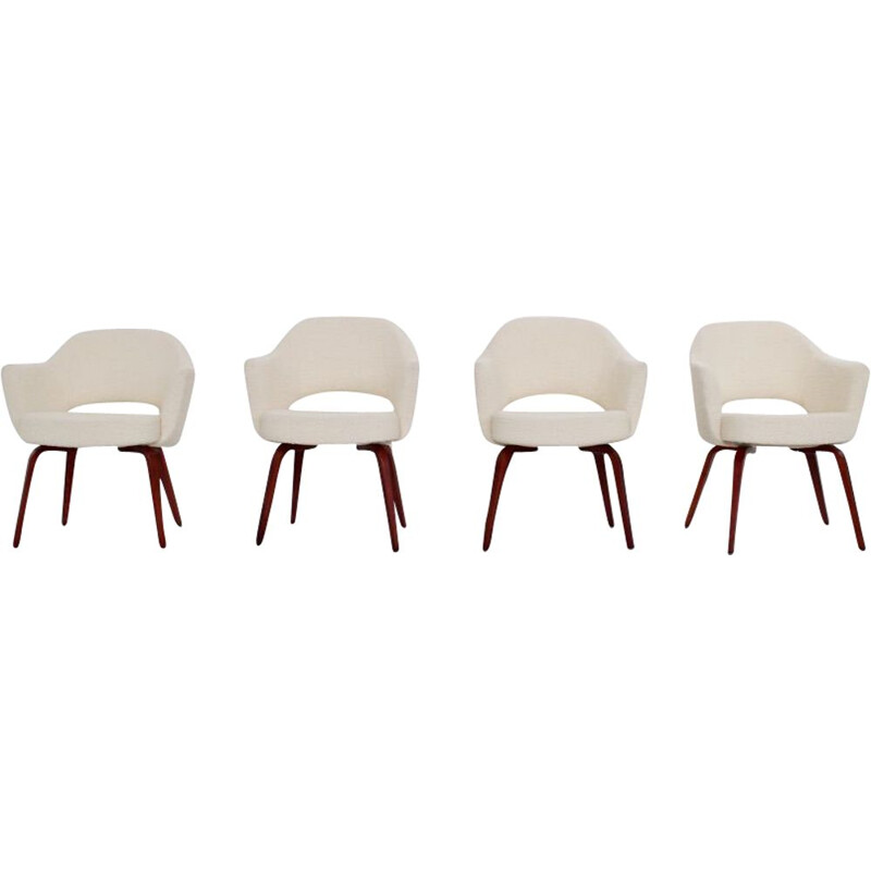Set of 4 vintage armchairs by Eero Saarinen for Knoll International, 1960s