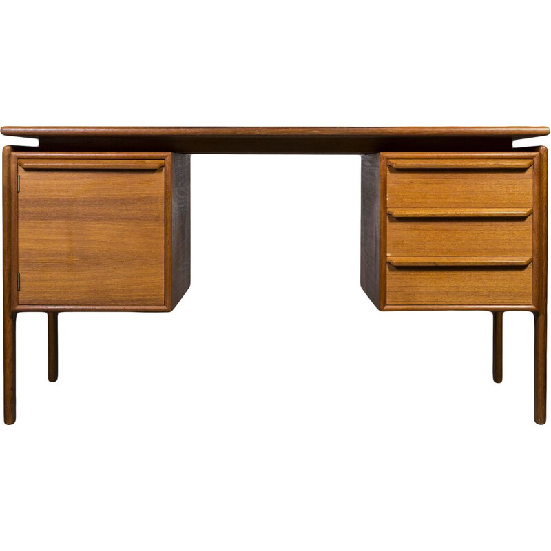 Danish teak vintage desk by GV Gasviga for GV Møbler, 1960s