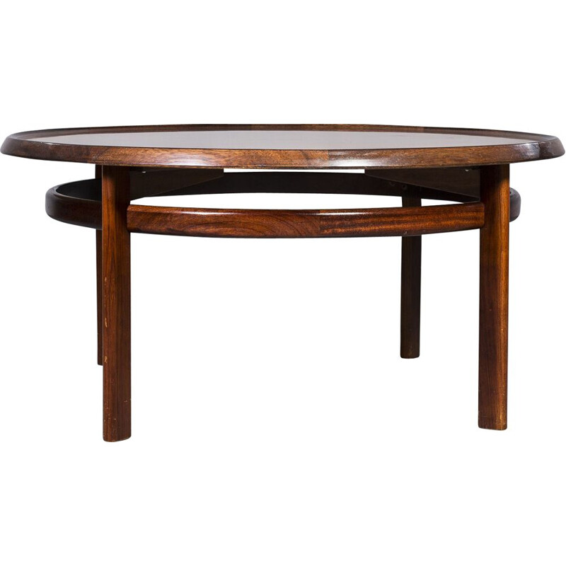 Rosewood vintage coffee table by Torbjørn Afdal for Bruksbo, 1960s