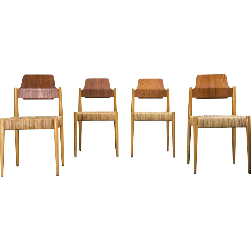 Set of 4 vintage SE119 chairs by Egon Eiermann for Wilde & Spieth, 1950s