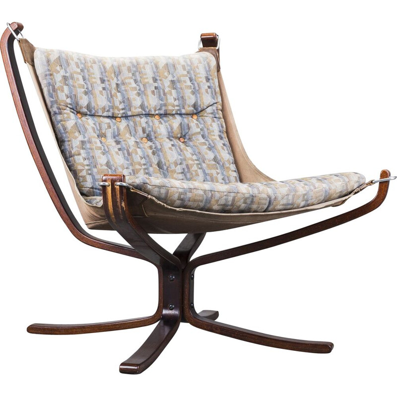 Vintage Falcon armchair by Sigurd Ressell for Vatne Møbler, 1970s