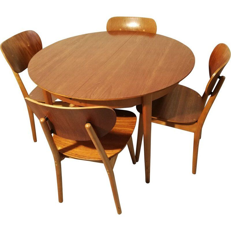 Vintage dining set by Cees Braakman for Pastoe, 1950s