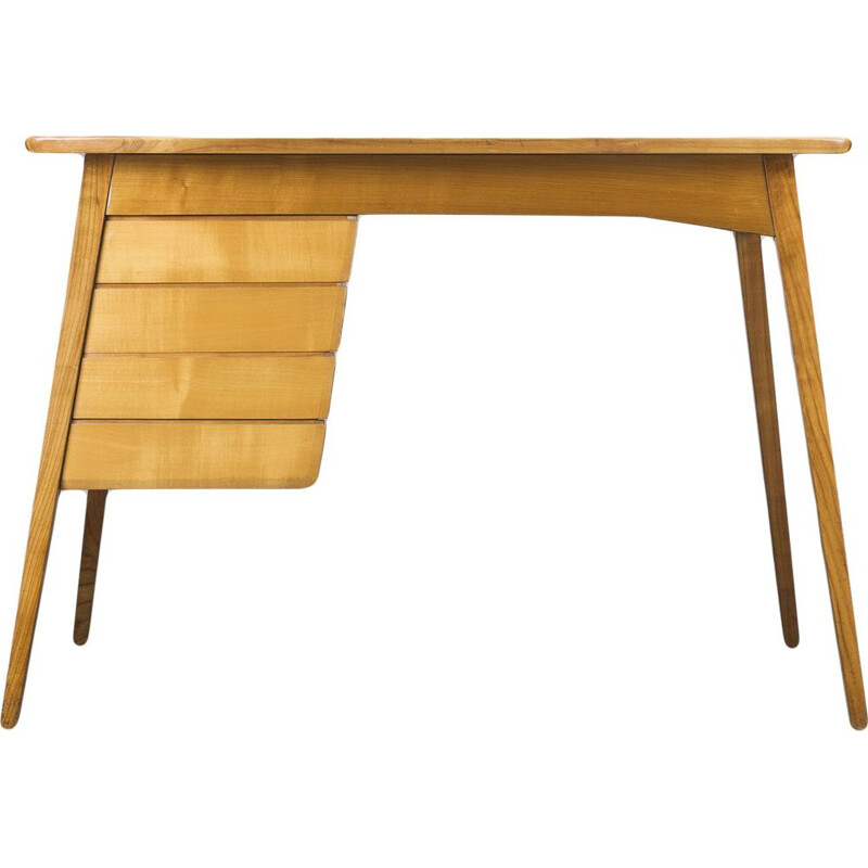 Cherrywood german vintage desk, 1960s