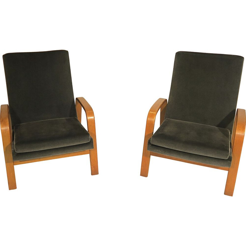 Set of 2 vintage armchairs by ARP, Steiner publisher, 1950s