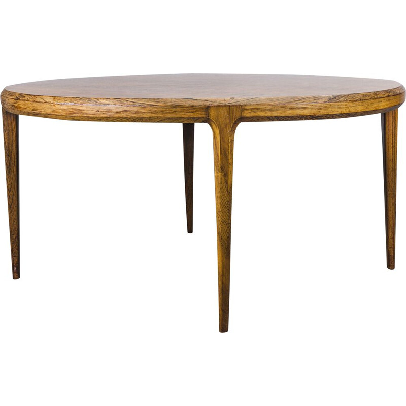 Rosewood danish vintage coffee table by Johannes Andersen for CFC Silkeborg, 1960s