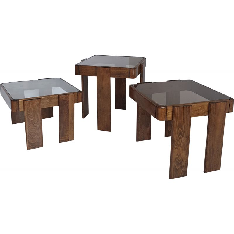 Vintage nesting tables by Frattini for Cassina, Italy, 1960s