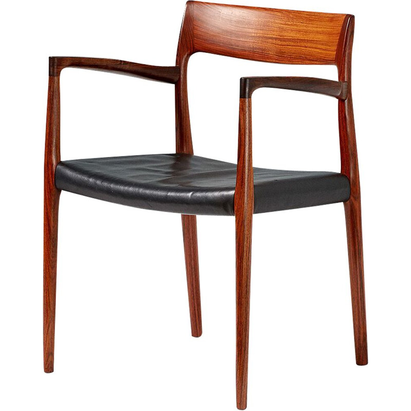Vintage rosewood model 57 chair by Niels Moller, 1959