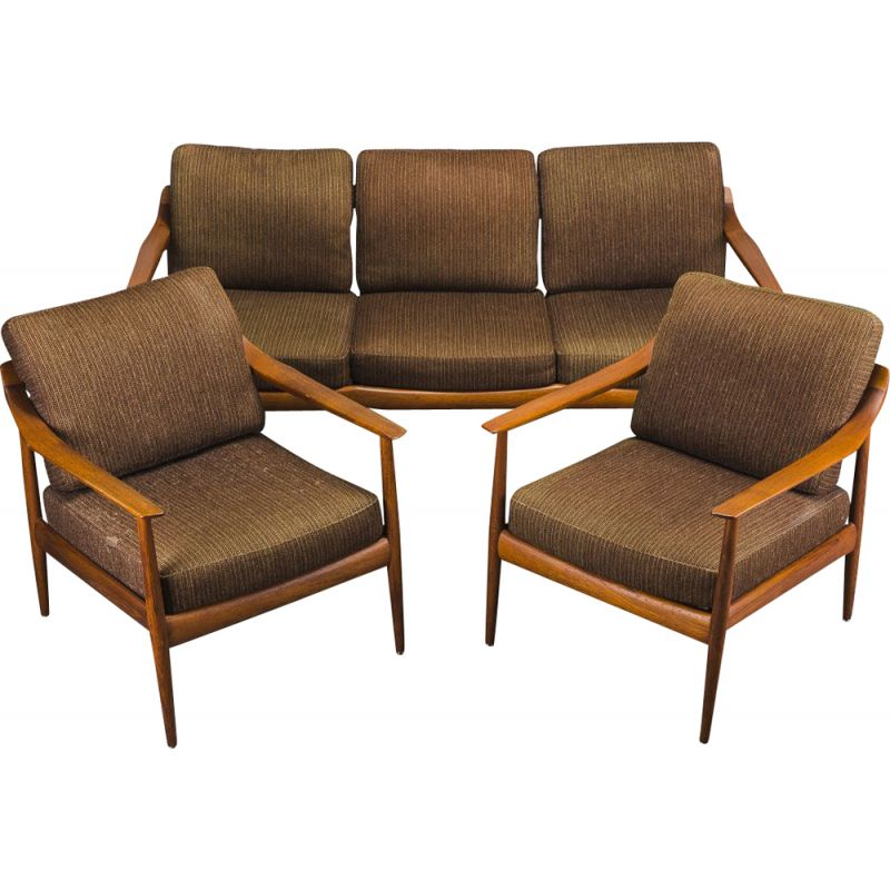 Danish teak vintage living room set by Walter Knoll, 1960s