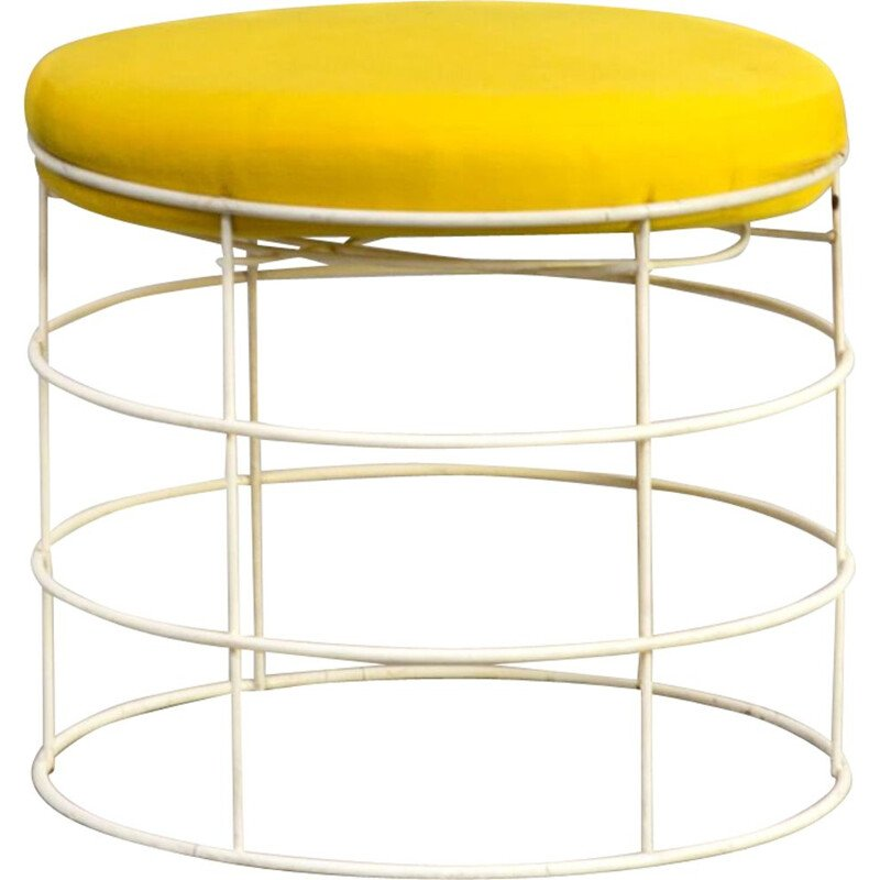 Vintage T1 wire stool by Verner Panton for Plus Linje, 1960