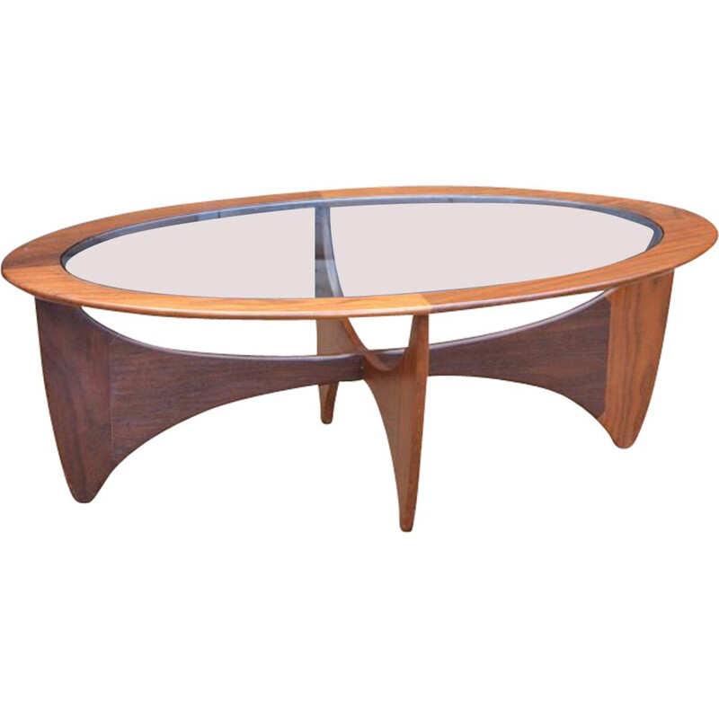 Vintage oval coffee table by G-Plan - ASTRO model