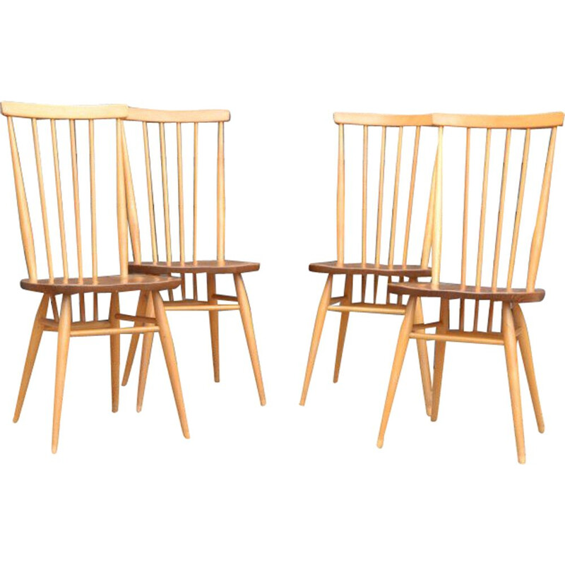 Set of 4 Vintage chairs by Lucian Ercolani