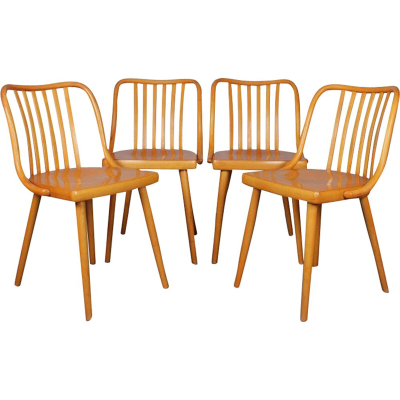 Suite of 4 vintage chairs by Antonin Suman, 1960s