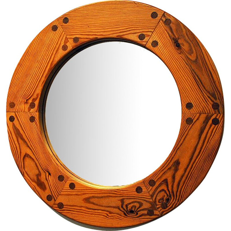 Vintage wall mirror by Uno & Östen Kristiansson, Sweden, 1950s