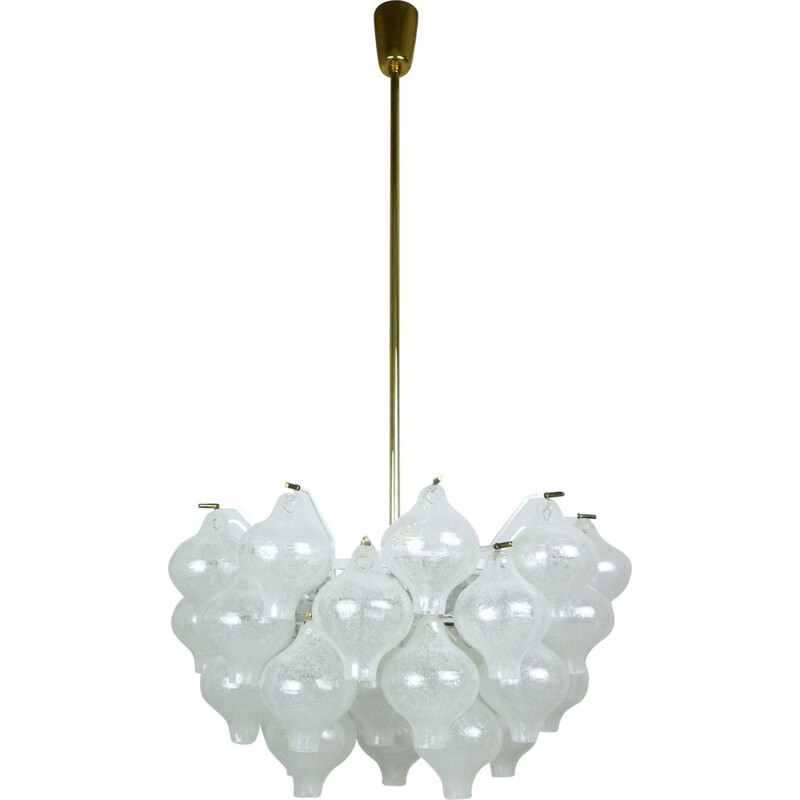 Tulipan vintage chandelier by J.T. Kalmar for Franken KG, Germany, 1960s