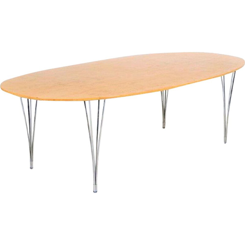 Superelipse vintage dining table by Piet Hein and Bruno Mathsson, 1970