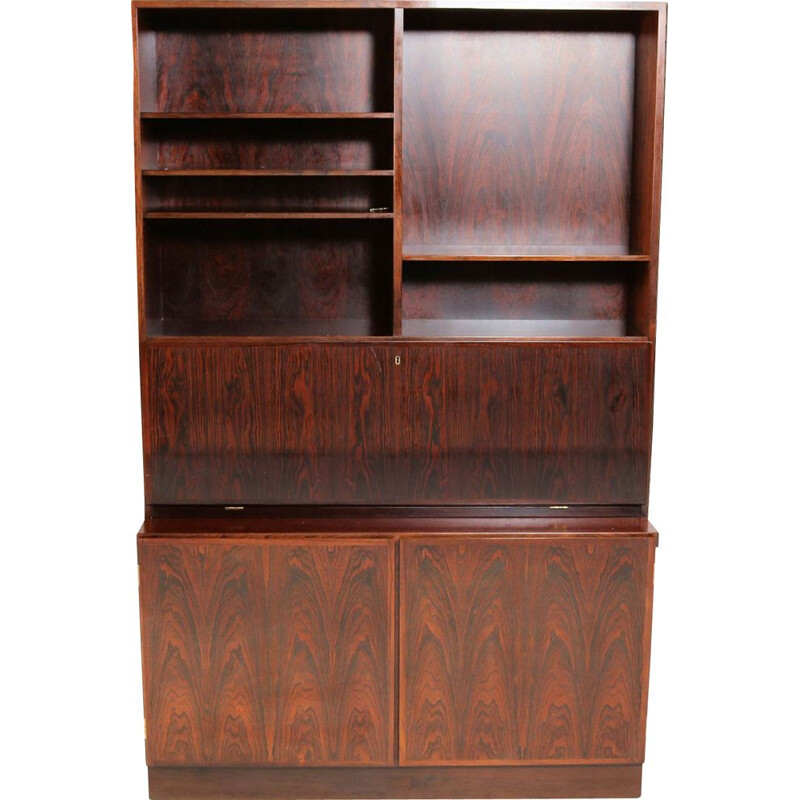 Vintage rosewood secretary by Gunni Omann for Omann Jun