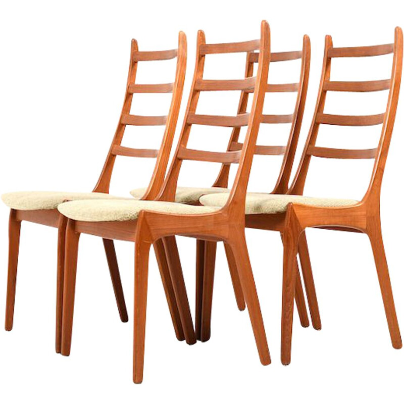 Set of 6 vintage teak dining chairs by Kai Kristiansen