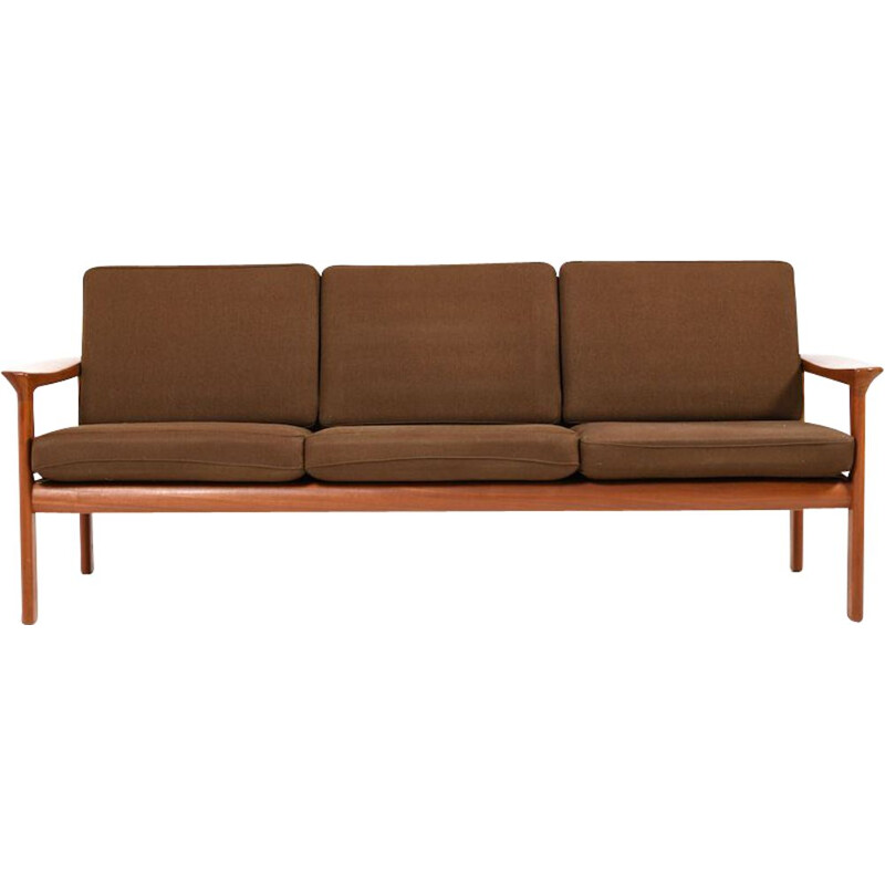 Vintage 3-seater sofa in teak by Sven Ellekær for Komfort, 1970s
