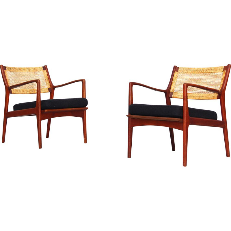 Set of 2 vintage armchairs by Karl-Erik Ekselius for JOC, 1960s