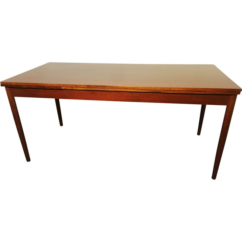Large vintage extendable table in rosewood, 1960s