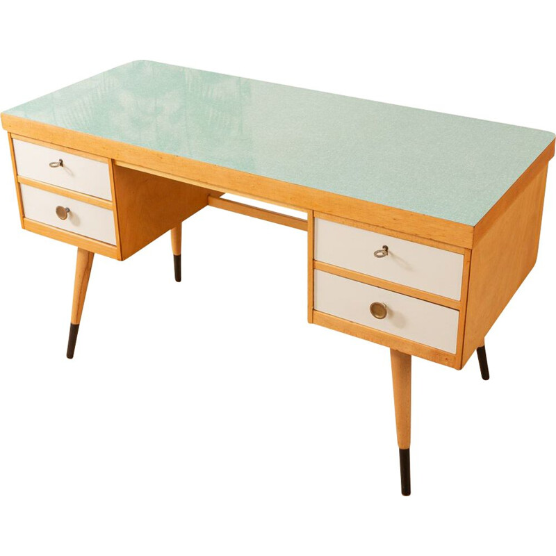 Vintage formica and ash desk, Germany, 1950s