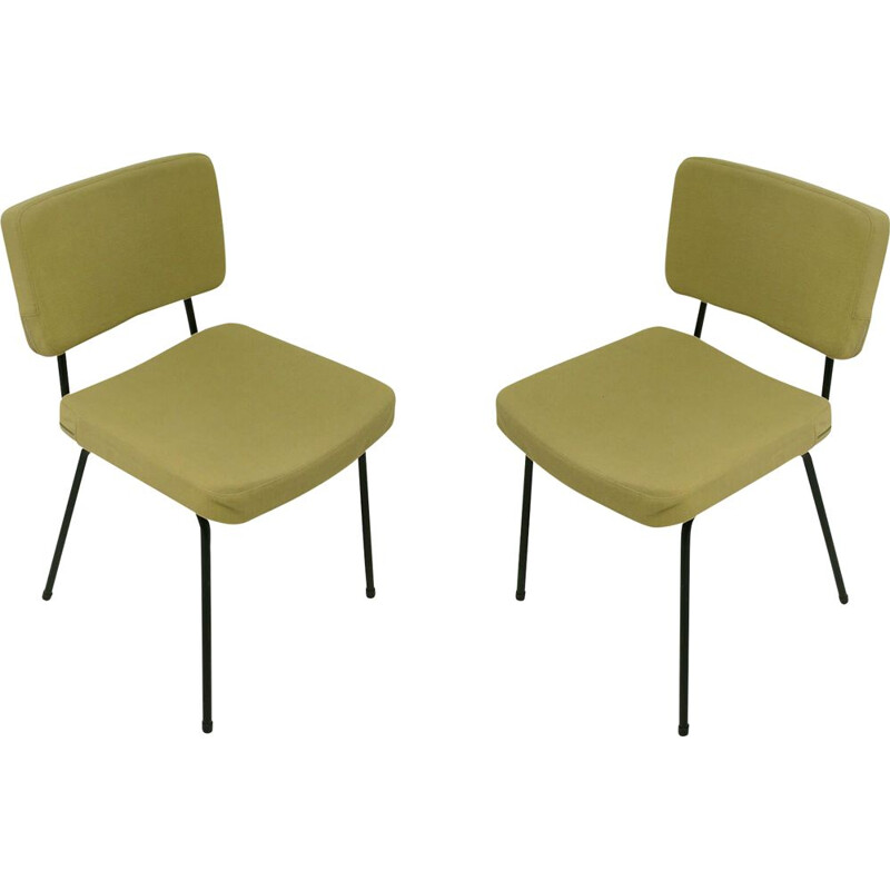 Set of 2 vintage chairs by André Simard for Airborne