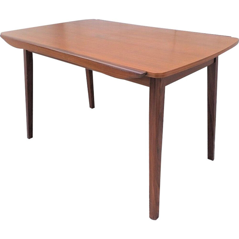 Vintage teak dining table by Louis Van Teeffelen, Wébé publisher, 1960