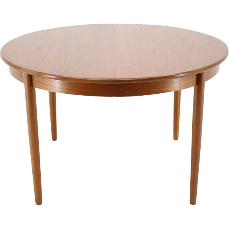 Vintage teak extendable round table Danish 1960