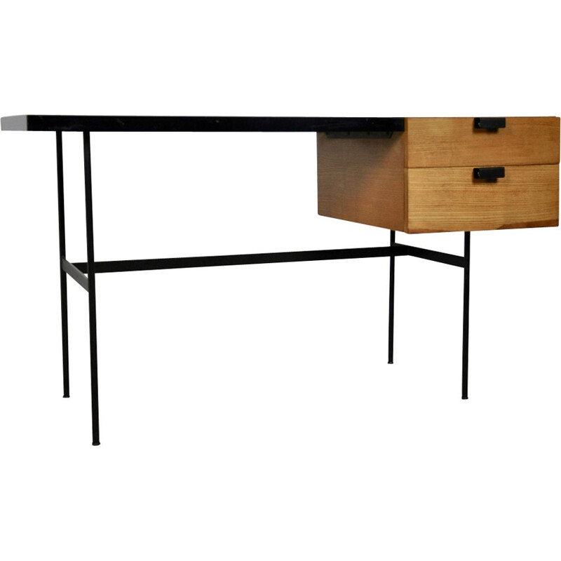 Vintage CM141 Desk by Pierre Paulin for Thonet, 1954