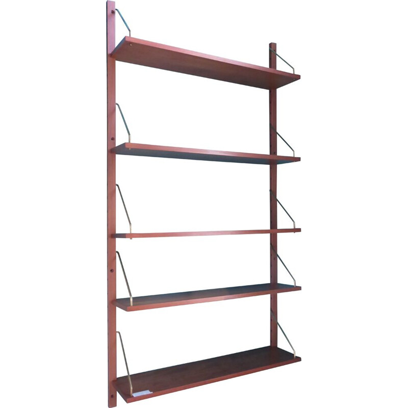 Vintage bookcase with modular shelves by Poul Cadovious Denmark 1960