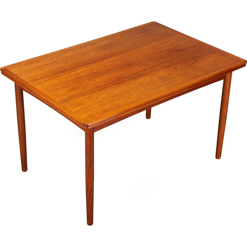 Vintage danish teak extendable dining table, 1960