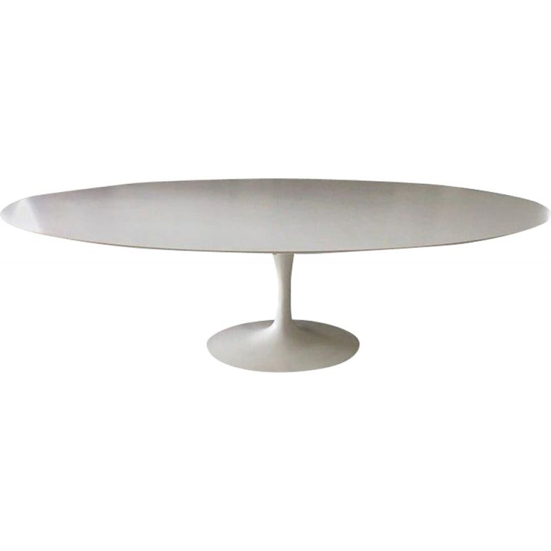 Vintage white laminate dining table by Eero Saarinen for Knoll