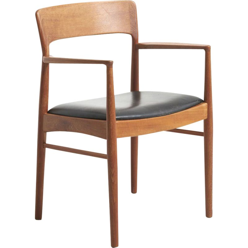 Vintage chair in teak by K.S Mobler, Denmark, 1950
