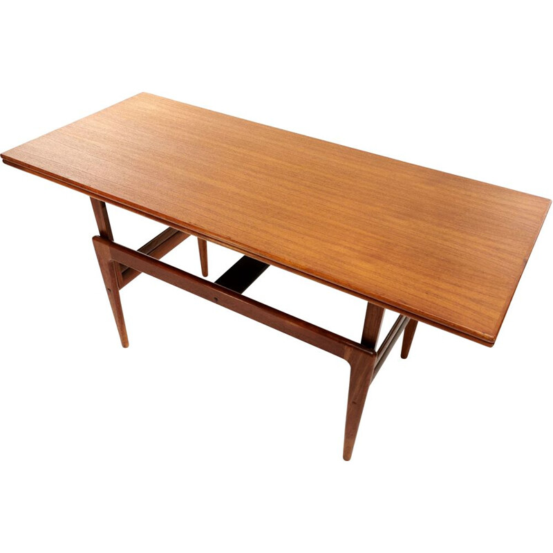 Vintage Danish teak metamorphic coffee & dining Table By Kai Kristiansen For Vildbjerg Møbelfabrik 1960s
