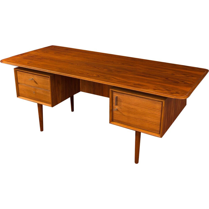 Vintage walnut desk, Germany, 1950s