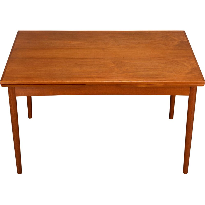 Vintage teak modern extendable dining table, 1960