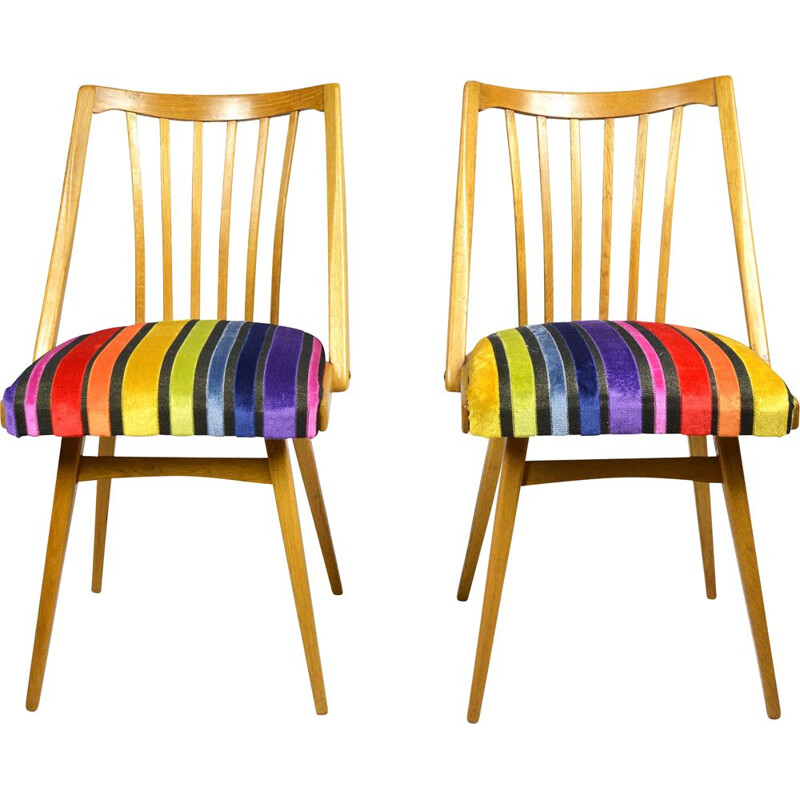 Vintage pair of chairs, designed by A. Suman, Ton 1960