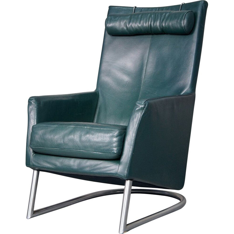 Vintage leather Madonna lounge chair by Gerard van den Berg for Montis, 1980