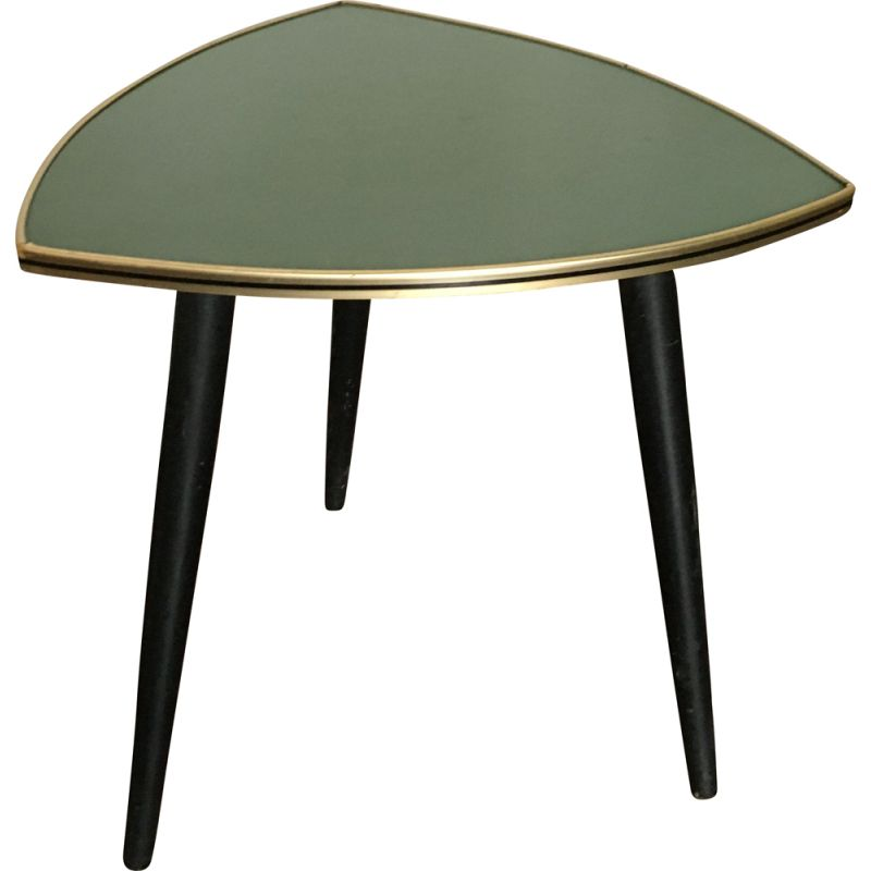 Vintage wooden side table with formica top, 1950